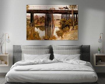 Tom Roberts, Winterochtend na de regen, Gardiner's Creek - 1885 van Atelier Liesjes