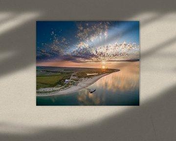 De nieuwe Vriendschap uitzicht Vuurtoren Eierland Texel prachtige zonsondergang van Texel360Fotografie Richard Heerschap