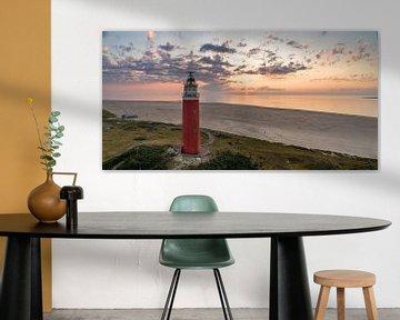 Vuurtoren Eierland prachtige zonsondergang van Texel360Fotografie Richard Heerschap