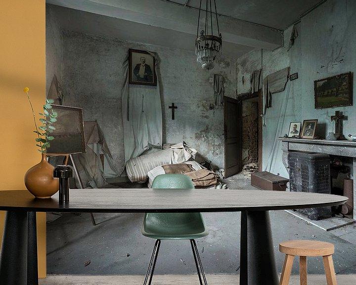Beispiel fototapete: ruiniertes Schlafzimmer in einem Schloss von Sander Schraepen