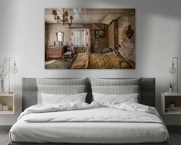 ruiniertes Schlafzimmer urbex von Sander Schraepen