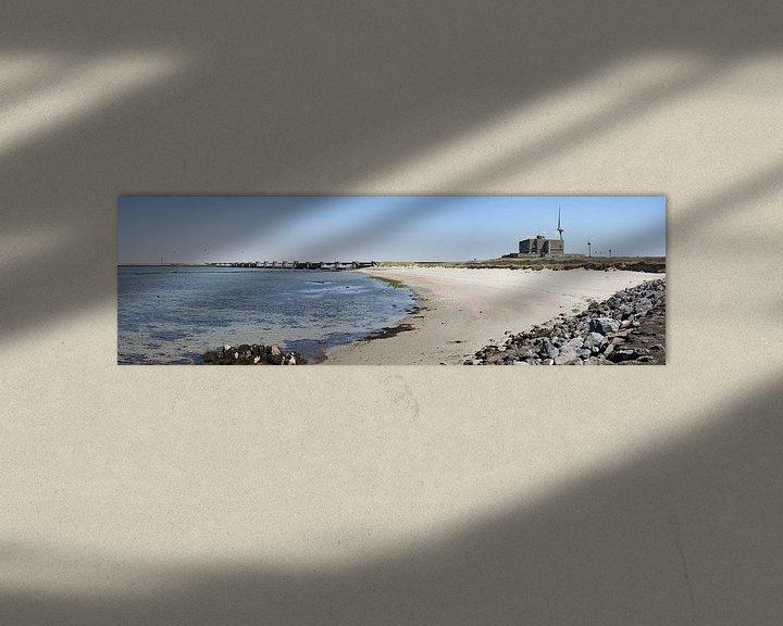 Sfeerimpressie: Panorama foto van stormvloedkering Neeltje Jans van W J Kok