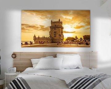 Toren van Belem (Gouden uur) van Stewart Leiwakabessy
