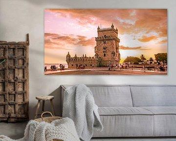 Toren van Belem (Avondrood) van Stewart Leiwakabessy