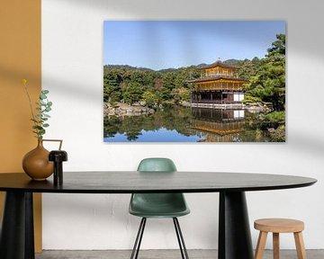 Gouden tempel in Kyoto van Mickéle Godderis