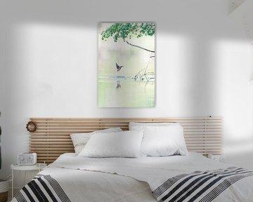 Eisvogel im weichen Morgenlicht von Jeroen Arts