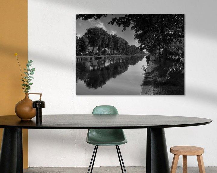 Impression: Cadres sur l'eau en noir et blanc sur JM de Jong-Jansen