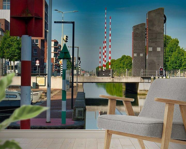 Impression: Une ligne verticale et une ligne horizontale à travers l'image sur JM de Jong-Jansen