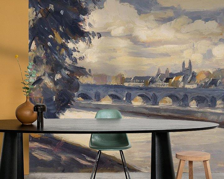 Beispiel fototapete: Maastricht, von Wyck aus gesehen von Nop Briex
