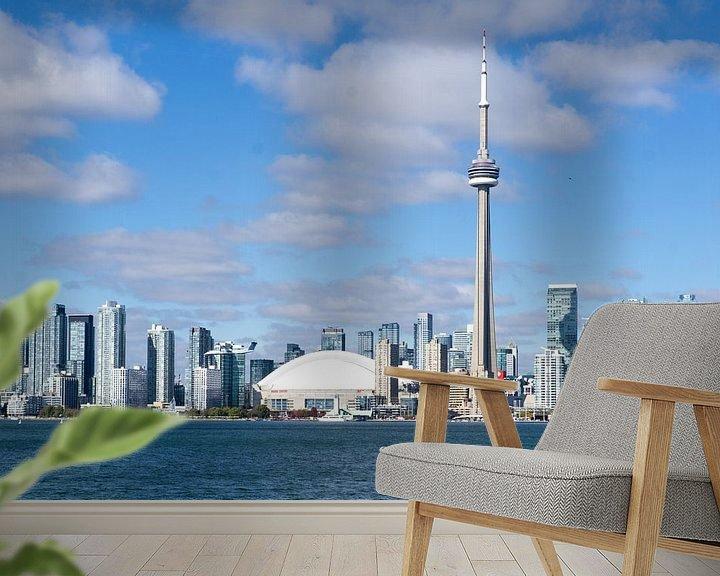 Sfeerimpressie behang: Toronto Canada van Frans Hettema