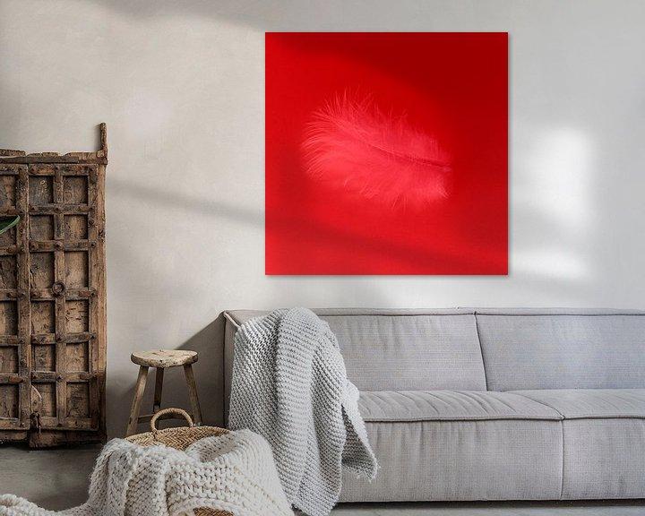 Sfeerimpressie: Veertje rood van Jeannine Van den Boer