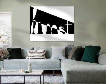 Kunstwerk schwarz-weiß von Anne Dellaert