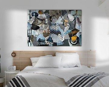 Industrial Inspiration Recycling-Collage-Blatt von Trinet Uzun