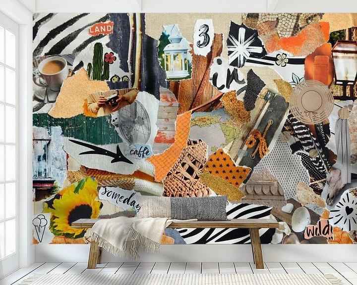 Beispiel fototapete: Inspiration Recycling-Collage in Sommerurlaubsatmosphäre von Trinet Uzun