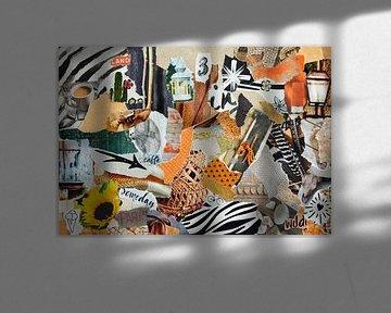 Inspiration Recycling-Collage in Sommerurlaubsatmosphäre von Trinet Uzun