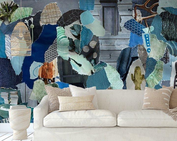 Beispiel fototapete: Inspiration Recycling-Collage in skandinavischer Retro-Atmosphäre von Trinet Uzun