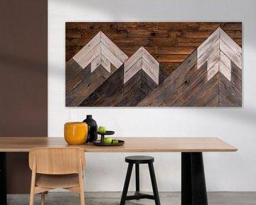 Montagnes en bois sur Douwe Beckmann