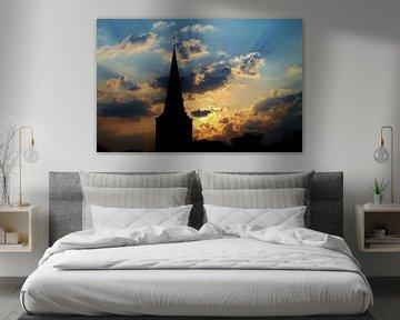 Zonsopgang met silhouet van Tamara Photography