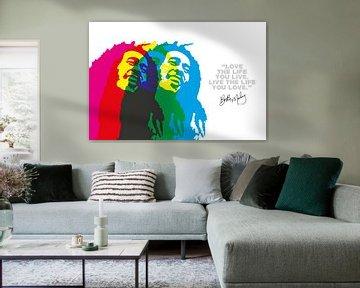 Bob Marley Quote van Harry Hadders