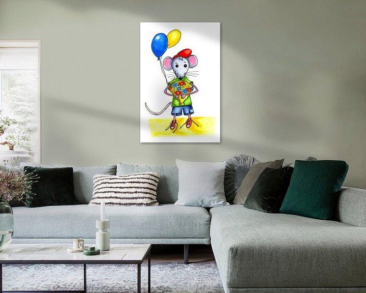 Beispiel: Kleine Maus zum Geburtstag von Ivonne Wierink