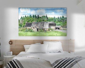 Kleines Dorf im französischen Limousin von Ivonne Wierink