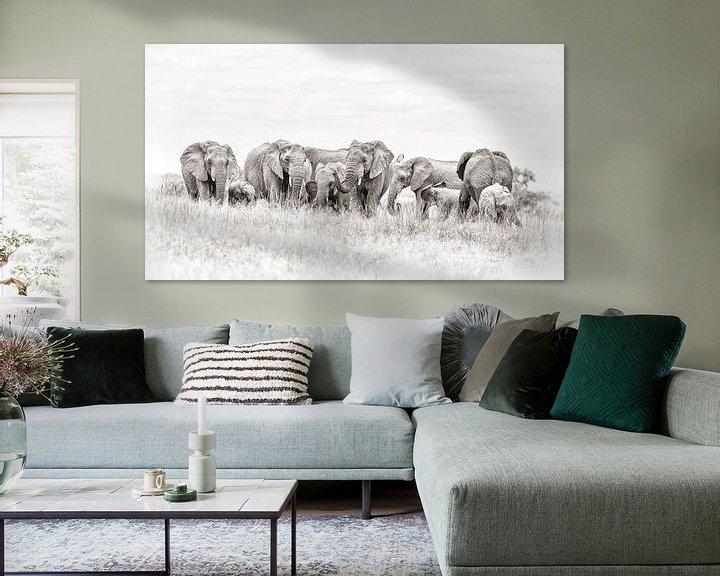 Beispiel: Elefantenherde von De Afrika Specialist