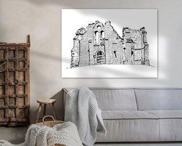 Ruinierter Mont Gargan im französischen Limousin von Ivonne Wierink