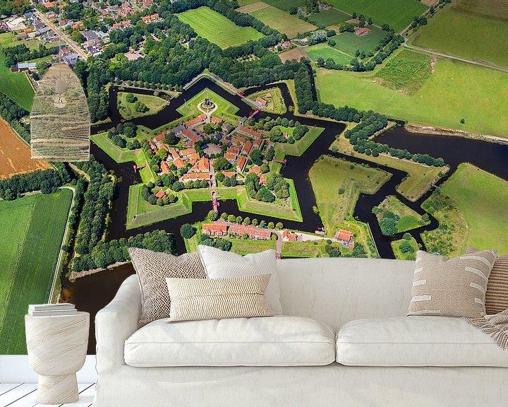 Impression: Photo aérienne de la forteresse de Bourtange sur Frans Lemmens
