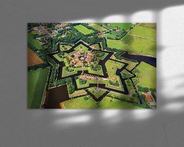 Luchtfoto van stervormige vesting Bourtange