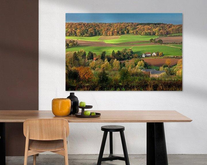 Beispiel: Panorama von Fachwerkhäusern in Herbstfarben von Frans Lemmens