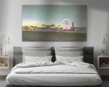 Pier van Scheveningen in de stijl van Monet