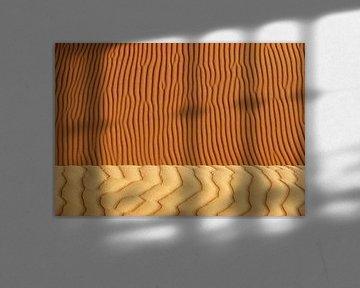 Detail einer Sanddüne in der Wüste Sahara.