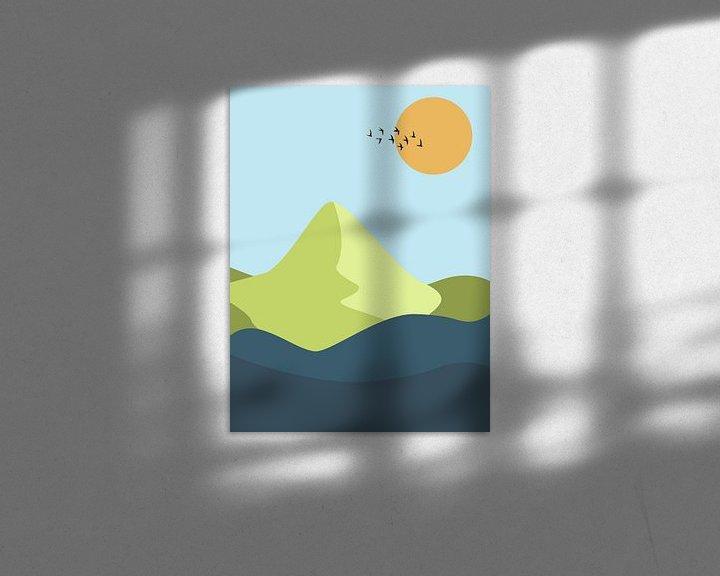 Impression: Paysage abstrait sur MDRN HOME
