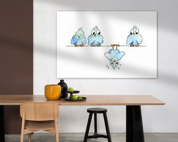 Illustratie gevallen vogel van Ivonne Wierink