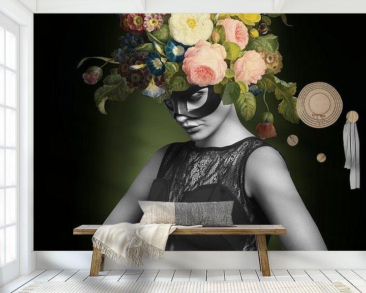 Beispiel fototapete: I am Woman, Watch me Bloom von Marja van den Hurk