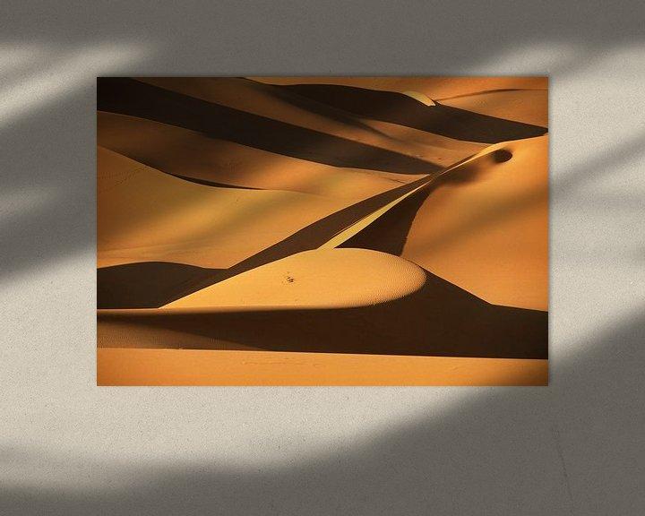 Beispiel: Sanddünen in der Wüste Sahara von Frans Lemmens