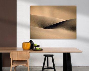 Dune de sable sensuelle. Le désert du Sahara.