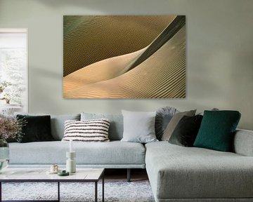 Nahaufnahme einer Sanddüne. Wüste Sahara.
