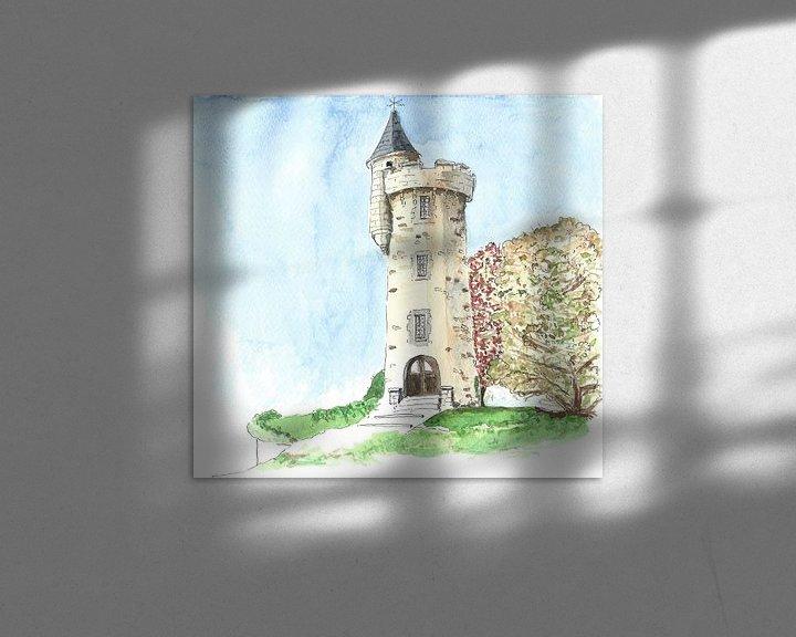 Sfeerimpressie: Watertoren in klein Frans plaatsje van Ivonne Wierink