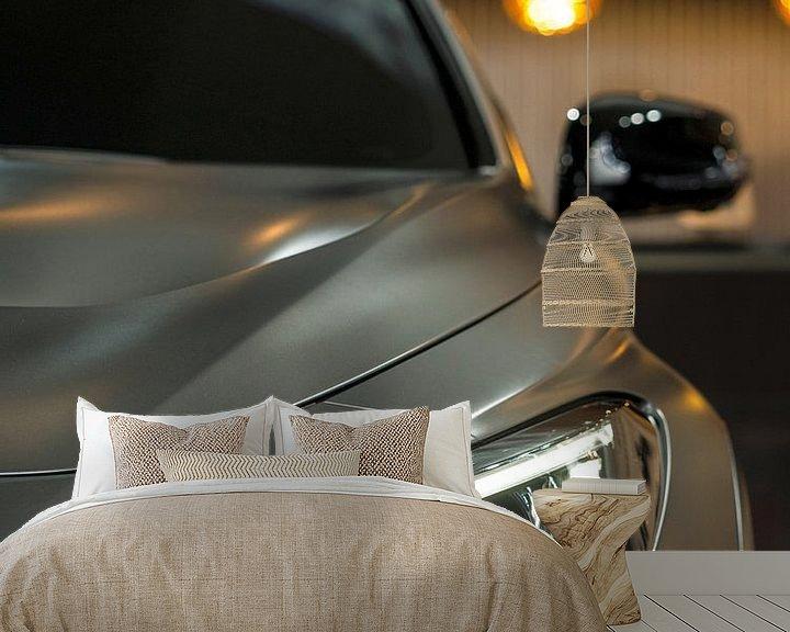 Sfeerimpressie behang: Zilveren auto van YesItsRobin