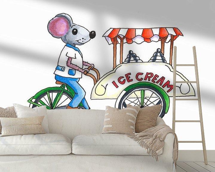 Beispiel fototapete: Eiscreme-Typ Eiscreme auf Lastenfahrrad aus von Ivonne Wierink