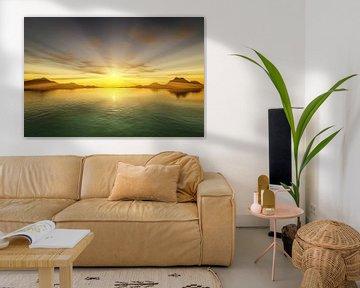 Coucher de soleil sur la mer sur Markus Gann