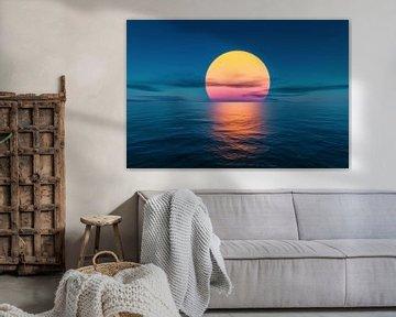 Grote zon aan zee van Markus Gann