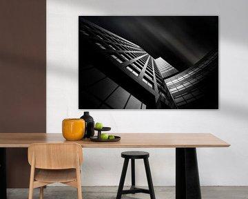 L'architecture sur le Zuidas black&white sur Silvia Thiel