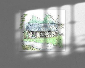 Kleine französische Hütte von Ivonne Wierink