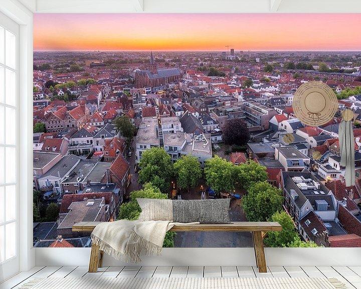 Sfeerimpressie behang: Overzicht van Amersfoort tijdens de zonsopkomst van Dennisart Fotografie