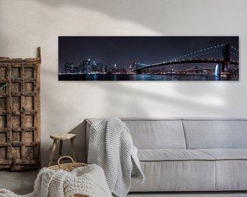 De Horizon van Manhattan en Brooklyn Bridge, Fabien BRAVIN van 1x