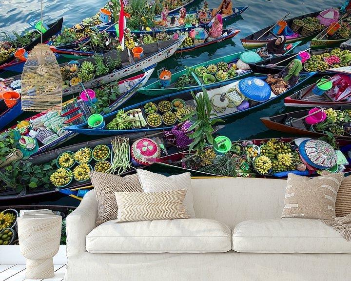 Sfeerimpressie behang: Banjarmasin Floating Market, Fauzan Maududdin van 1x