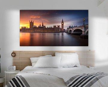 London Palace of Westminster Sunset, Merakiphotographer van 1x