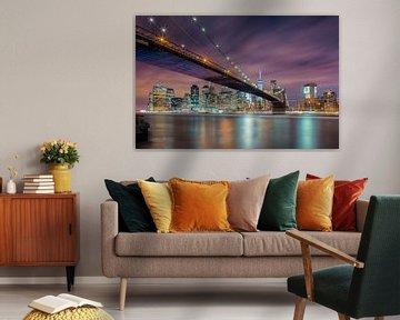Brooklyn-Brücke bei Nacht, Michael Zheng von 1x